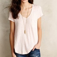 Scooped Linen Tee by Pure + Good