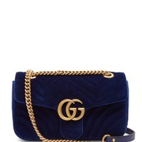 GG Marmont quilted-velvet cross-body bag | Gucci | MATCHESFASHION.COM UK