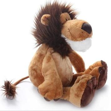 "1pcs 10"" 25cm Popular NICI Lion Stuffed Doll Plush Jungle Series Animal TOYS Kids Toys"