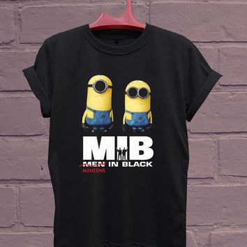 minions men in black For T-Shirt Unisex Adults size S-2XL