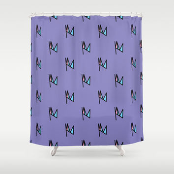 Initial Everywhere Again Shower Curtain by Kat Mun | Society6