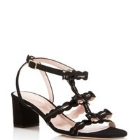 kate spade new york Medea Scalloped Triple Bow Mid Heel Sandals | Bloomingdales's