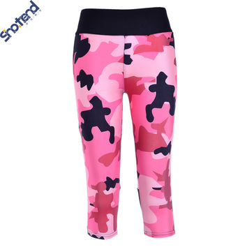 S.T 7 Capri Leggings Pink Camouflage Digital Printing Slim Jeggings Women Fitness Pants Legging Workout Pants Camuflaje Mujer