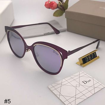 DIOR 2018 new polarized sunglasses elegant metal large frame colorful driving mirror sunglasses #5