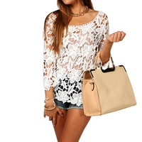 Floral Crochet Tunic