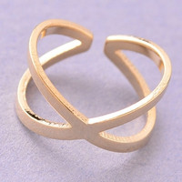 Crossed Infinity Knuckle Ring - Gold or Silver