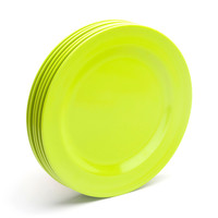 Lime Green Dinner Plates: Set of 6 - Cool Office Supplies | Poppin
