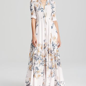 Free People Shirt Dress - After The Storm Printed Maxi