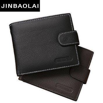 Genuine Leather Men Wallets Purse Money Bag Fashion Male Wallet Card Holder Coin Purse Wallet Men carteira Card Holder