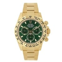 Rolex Cosmograph Daytona 18K Yellow Gold 40mm Green Dial Watch 116508