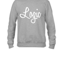 Logic Logo White - Crewneck Sweatshirt