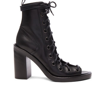 Ann Demeulemeester Lace Up Heels in Black | FWRD