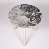 Moon Collection   Satellite Side Table - Light Grey
