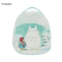 High Quality Anime My Neighbor Totoro Print Cosplay Fashion Lolita Canvas Shoulder Bags Schoolbag Mini Backpack