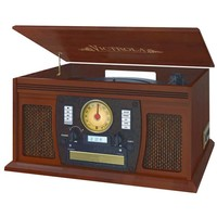 Innovative Technology - Victrola Bluetooth Audio System - Brown