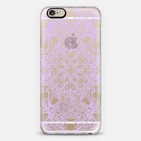 Vintage Fancy - Pale Lilac Lace on Transparent iPhone 6 case by Micklyn Le Feuvre | Casetify