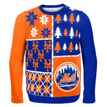 New York Mets - Busy Block Ugly Sweater