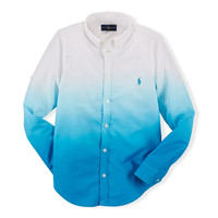 DIP-DYED COTTON BUTTON-DOWN