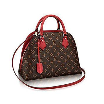 ONETOW Authentic Louis Vuitton Monogram Canvas ALMA B'N'B Bag Handbag Red Article: M41779 Mad