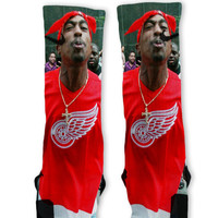 Tupac Custom Nike Elite Socks