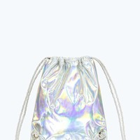 Shelly Holographic Drawstring Backpack