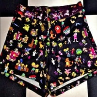 SWEET LORD O'MIGHTY! 90'z Cartoons BOOTY SHORTS