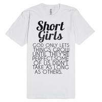 Shorts Girls Regular Tshirt-Unisex White T-Shirt