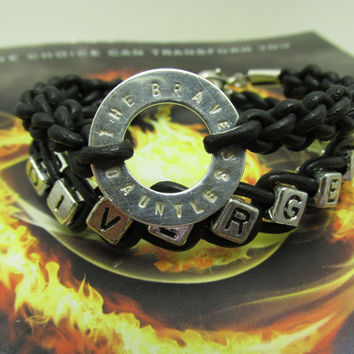 I Chose Dauntless. I am Divergent - Tris' Leather Wrap Bracelet