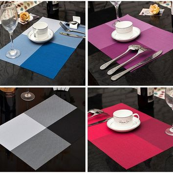 Fashion Modern PVC Dining Table Placemat Europe Style Kitchen Tools Tableware Pad Coaster Coffee Tea Drinks Place Mat