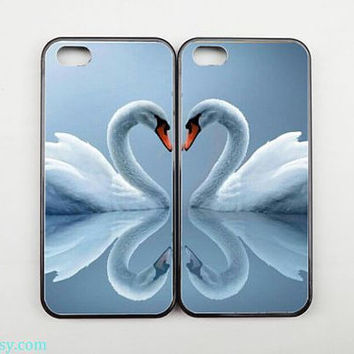 Couples Case,Best Friends Phone case,Swan iPhone 5 case,iPhone 5C case,iPhone 5S case,iPhone 4 case,Samsung galaxy S3 S4 S5 case