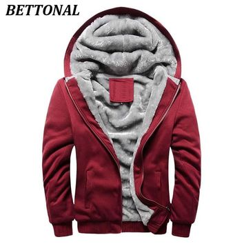 BETTONAL Autumn Thick Velvet Jacket Male Winter Coat Men Casual Hoodies Men moletom masculino Male Jacket Coat Homme