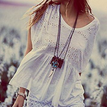 Free People  Sweetart Boxy Top at Free People Clothing Boutique