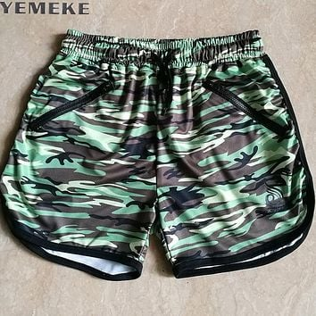 Men Jogger Sweatpants Casual Trunks Men's Active wear Camouflage  Shorts Man Short Bottoms Fashion Green