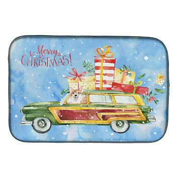 Merry Christmas Corgi Dish Drying Mat CK2451DDM