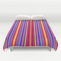 colorful stripes Duvet Cover by 2sweet4words Designs