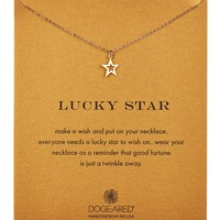 14K Gold Plated Sterling Silver Lucky Star Open Star Necklace