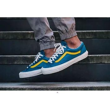 Vans Vault OG Style 36 LX Old Skool Moroccan Blue Low Top Men Flats Shoes Canvas Sneakers Women Sport Shoes