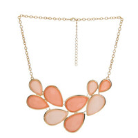 Faceted Teardrop Necklace | Shop Jewelry at Wet Seal