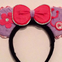 Doc McStuffins inspired minnie ears Detachables by ears for cheers