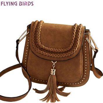 FLYING BIRDS 2016 women bag for Women messenger Bags ladies pu handbag designer shoulder bag tassel style bolsas purse LM3779ay