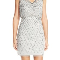 Adrianna Papell Embellished Blouson Sheath Dress | Nordstrom