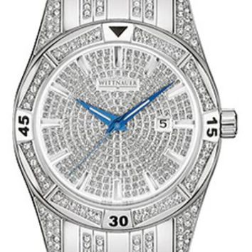 Wittnauer 10B101 Men's Swiss Swarovski Crystals Paved Dial Watch