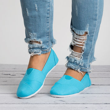 Spring Canvas Shoes - Aqua