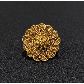 Spiral chakri design circular adjustable finger ring