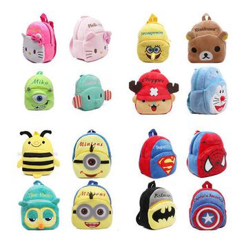 DCCKL72 mochila Children's gifts kindergarten boy backpack Plush baby children school bags design kid girls lovely K T plush toy bags
