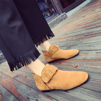 On Sale Hot Deal Autumn Matte Flat Korean Boots [7993617729]