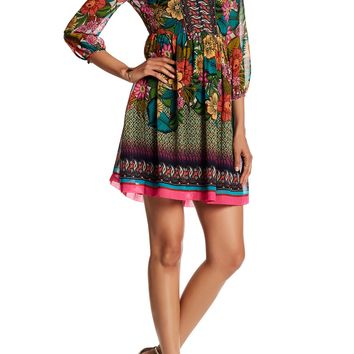 Donna Morgan | 3/4 Sleeve Print Dress | Nordstrom Rack