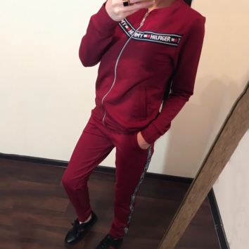 Red TOMMY HILFIGER Sports Pants Two Pieces