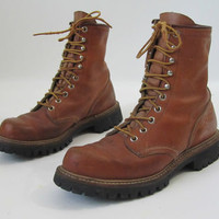 Vintage Red Wing Boots Irish Setter Sport Hunting Steel Toe Mens 7 Womens 9