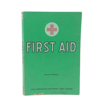 1957 First Aid Textbook, American Red Cross, Vintage Medical Books, Safety Training, Health and Science, Anatomy, Poisonous Plants Snakes